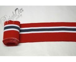 Подвяз красный с серой и белыми полосами