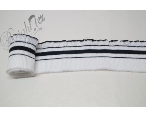 Подвяз белый с черными полосами