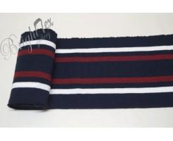 Подвяз синий с белыми и бордовыми полосами