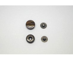 Кнопка «Miсron» металл нержавеющий сплав 15 мм Черный никель