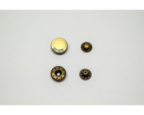 Кнопка «Miсron» металл нержавеющий сплав 15 мм Бронза