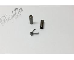 Наконечник для шнура металл «Чёрный Никель»