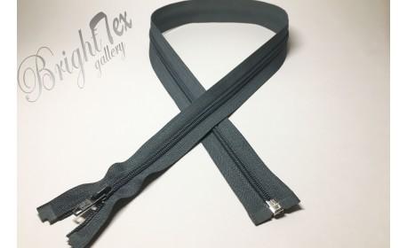 Молния спираль р/м «Темно-серый» 80 см