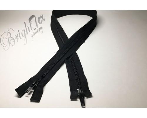 Молния двухзамковая «Черный» 80 см