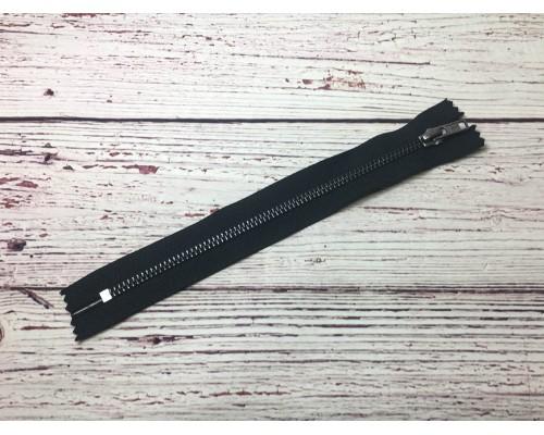 Молния Металл черный никель 20 см Тип 5 неразъёмная