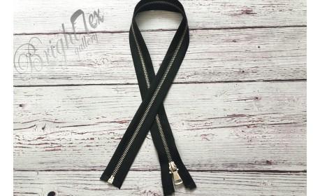 Молния мет. №5 никель 75 см, цвет чёрный