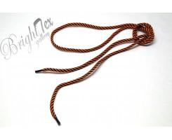 Шнурки черно-оранжевые