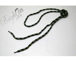 Шнурки салатово-черные
