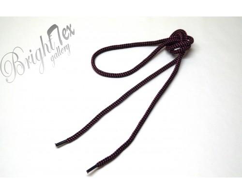 Шнурки черно-розовые