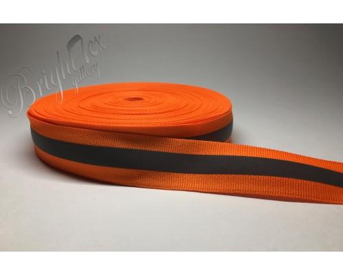 Лента светоотражающая 26мм «Оранжевый»
