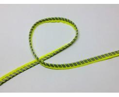 Кант светоотражающий Лимон узор «Полосы»