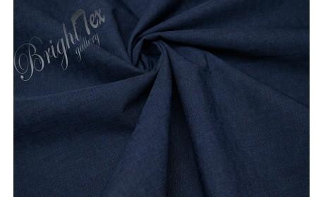 Мембранная ткань с фактурой «лён» цвет Тёмно-синий