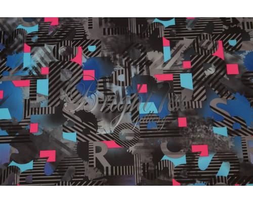 Мембранная ткань «Stripe Letters»