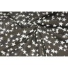 Курточная ткань «Светоотражающие звёзды» на сером