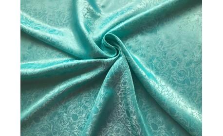 Подкладочная ткань поливискоза жаккард цвет Мята