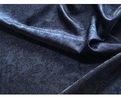 Подкладочная ткань поливискоза жаккард цвет Тёмно-Синий
